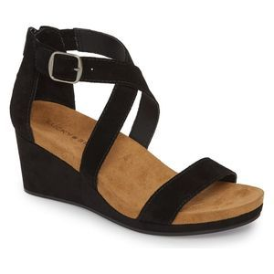 Lucky Brand Kenadee Wedge Sandal Black 7.5